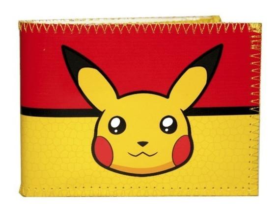 Billetera Tarjetero Diseño Pikachu 100% Original