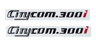 Kit Emblema Adesivo Resinado Dafra Sym Citycom 300i 002