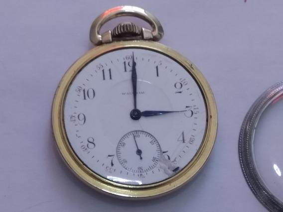 Reloj De Bolsillo Waltham Antiguo 1853 D Colección Funciona