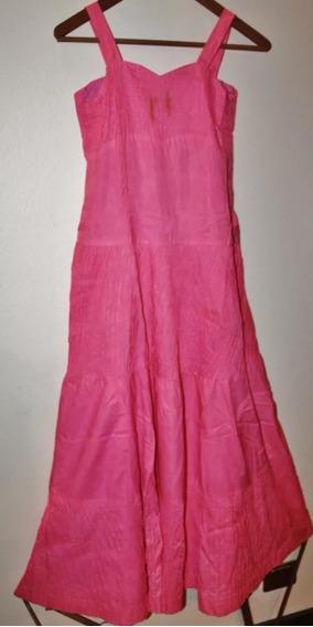Vestido Para 15 Años, Color Fucsia + Lazo, Excelente Estado