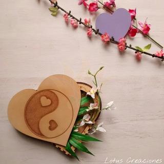 Caja Alhajero Corazón -personalizada -corte Láser-