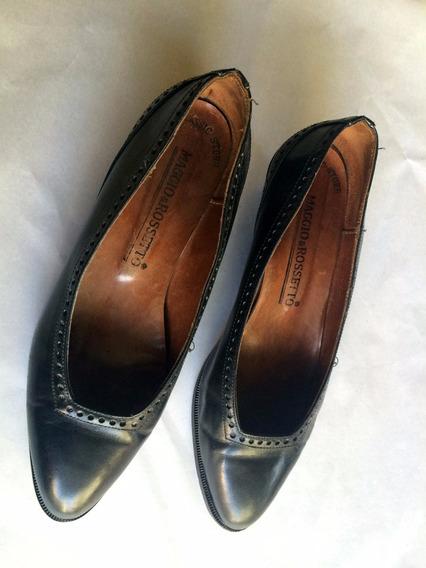 Zapatos Cuero Maggio & Rosetto Negros T 36 Super Cómodos!