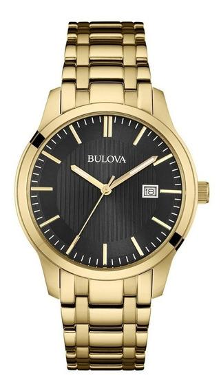Relógio Masculino Bulova Dourado Preto Wb22444u 97b157 + Nfe