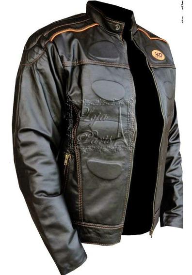 Jaqueta Masculina Couro Legitimo Harley