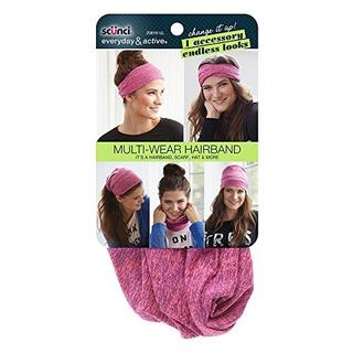 Scunci Hairband Multi-wear, Rosa