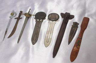 3 Mini Espadas Bronze E Inox, E + Outros 4 Itens Históricos