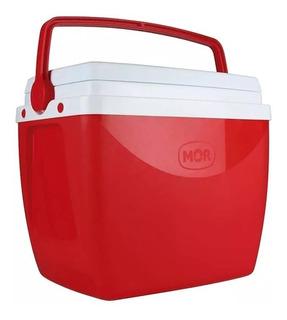 Cooler Caixa Térmica 18l Com Alça Vermelha Mor