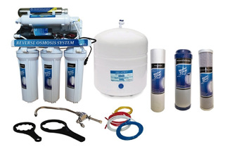 Filtro Osmosis Inversa Uv 100 Galones 6 Etapa Y Kit Repuesto