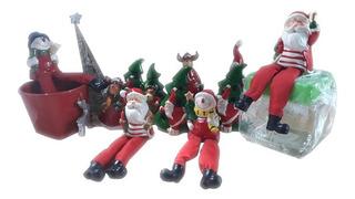 Set 11 Piezas Figuras Decorativas Articulos Navideños Hogar