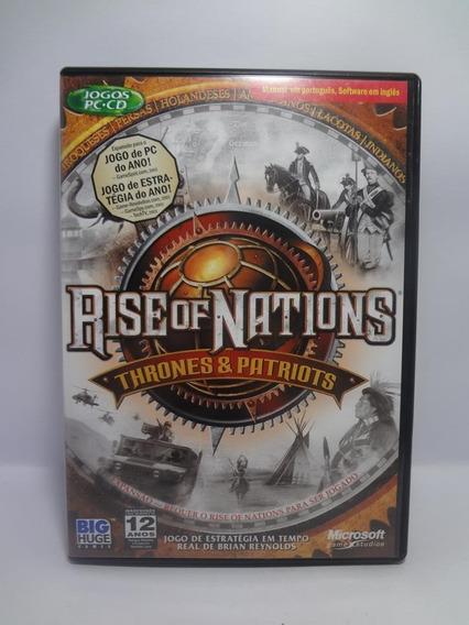 Jogo Game Pc Rise Of Nations Thrones E Patriots