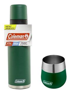 Termo Coleman 1,2 L Calor 37hs Frío 66hs Mas Mate Coleman