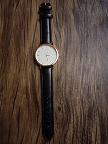 Relógio Geneva Feminino Preto E Dourado