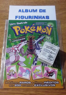 Album Pokemon + 195 Figurinhas P/ Colar
