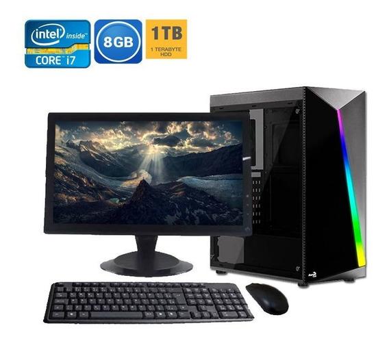 Computador Completo Core I7 8gb Hd 1tb + Wi-fi