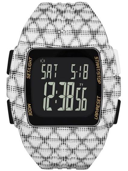 Relógio - Masculino Branco Xadrez Esportivo Adp3242/8bm