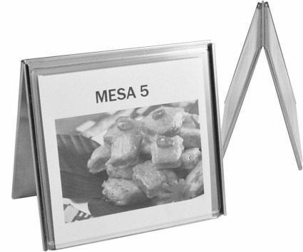 50 Display De Mesa Liso Aço Inox Ref 280
