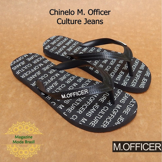 Chinelo Masculino M. Officer - Modelo Culture Jeans