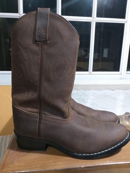 Botas Texanas Mujer Gamuzada Masterson Boot,co Usa Sin Uso