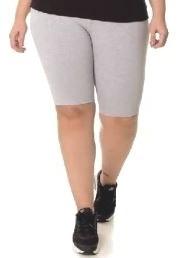 10 Kit Bermuda Feminina Cotton 8 Algodão Grosso Plus Size