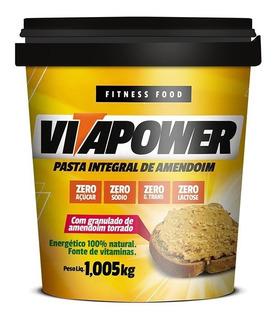 Pasta De Amendoim 1,005kg - Vitapower - Lisa Ou Crocante