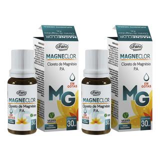 Cloreto De Magnésio P.a. Gotas Magneclor 30ml Kit 2 Unidades