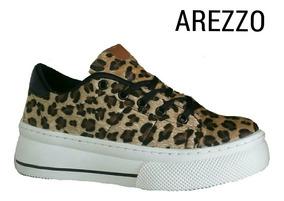 Tênis Zz Life Arezzo Em Onça Lançamento
