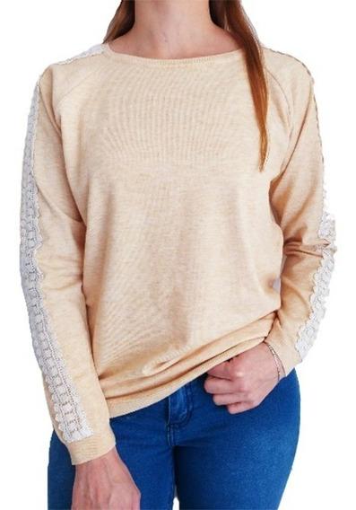 Sweater Mujer Importado Bordado Bremer