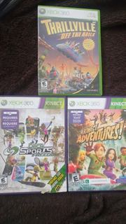 Kinect Adventures, Deca Sports Y Thrillville Xbox 360