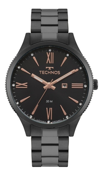 Relógio Technos Feminino Fashion 2015ccq/4p´preto Trend