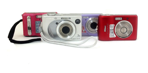 Lote 4 Câmera Sony Sanio Nikon Polaroid Retirada Peça A11909