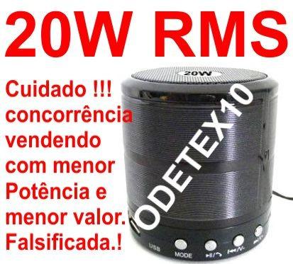 20w Caixa Som Portatil Bluetooth 3 iPhone S7 Sd Usb Radio Fm