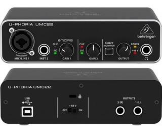 Placa De Audio Behringer Umc 22 Semi Nueva