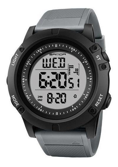 Relógio Sanda Digital Esportivo Feito Em Resina Cinza