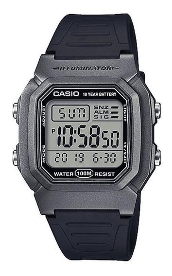 Relógio De Pulso Preto/cinza Casio W-800hm-7avdf-sc