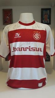 Camisa Futebol Topper Internacional 2003 Autografada