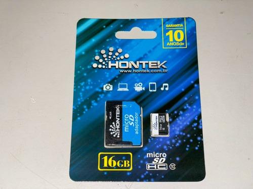 Imagem 1 de 3 de 10 X Cartão Micro Sd Hontek 16gb (10 Unidades)