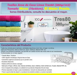 Toalla Ama De Casa Tres80 Mano (gym, Spa