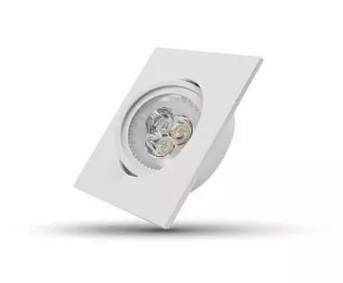 Spot P/ Embutir Super Led Quadrada 3wbivolt Amarela - Flc