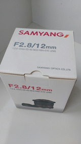 Fish Eye Samyang 12mm 2.8 Asferica Full Frame