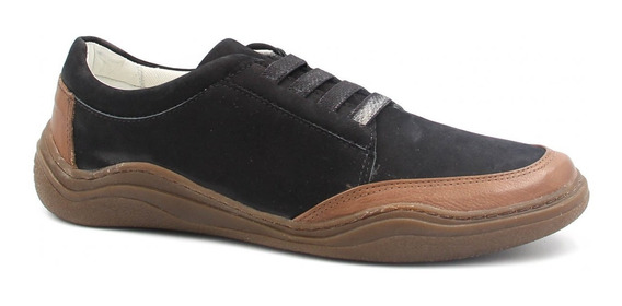 Sapatênis Zariff Shoes Casual Em Couro Ri02