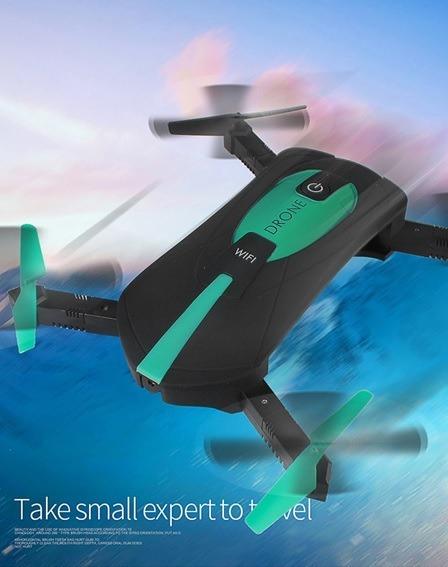 Drone De Bolso Dobrável Jy018 Câmera Hd, Wifi