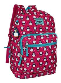 Mochila De Pinguim Rosa Pink Escolar Feminina Up4you