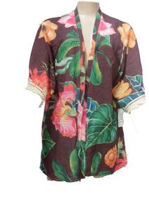 Kimono Social Feminino Guipir Crepe