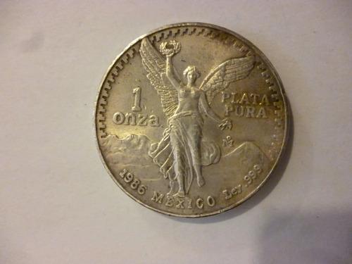 Imagen 1 de 3 de Moneda Una 1 Onza Libertad De Plata Pura 1986 Ley .999