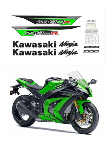 Kit Adesivos Moto Kawasaki Zx-10r 2013 Verde Ca-15992