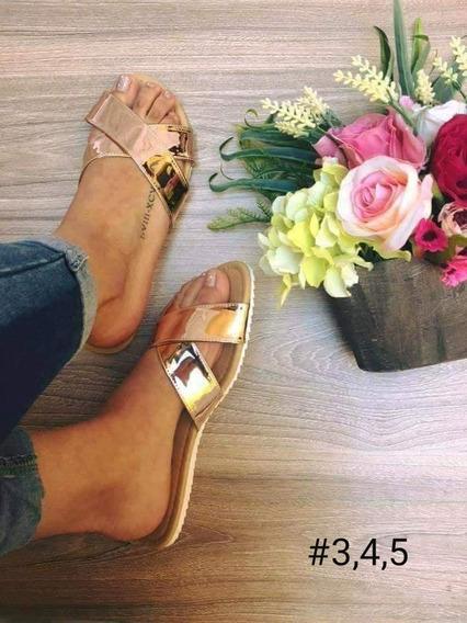 Sandalia Para Dama Oro Rosado