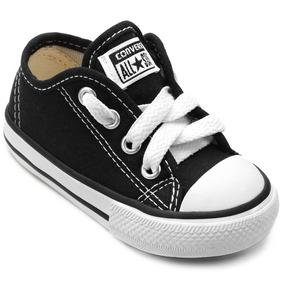 Tênis All Star Infantil Preto E Branco Bebê Kids Original