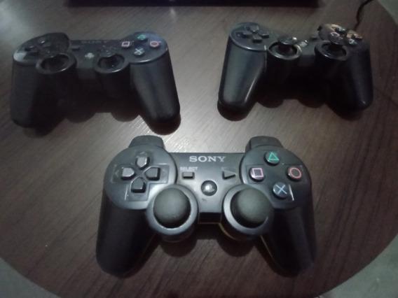 Controle Playstation 3 (com Defeito) Kit Com 3