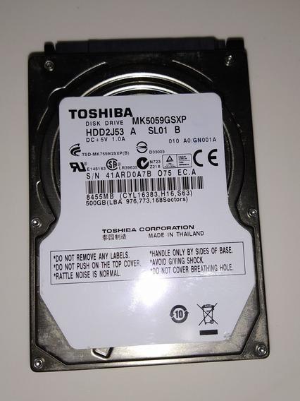 Hd 500gb Toshiba Mk5059gsxp - Hdd2j53 - **com Defeito**