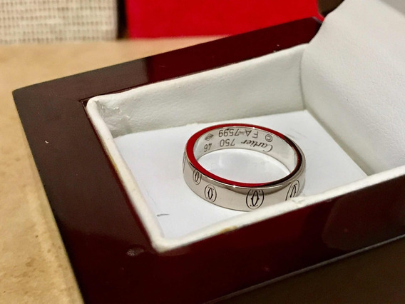 Anillo Cartier Happy Birthday Oro Blanco 18k 100% Original